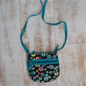 Other - Blue and pink peace sign cross body bag